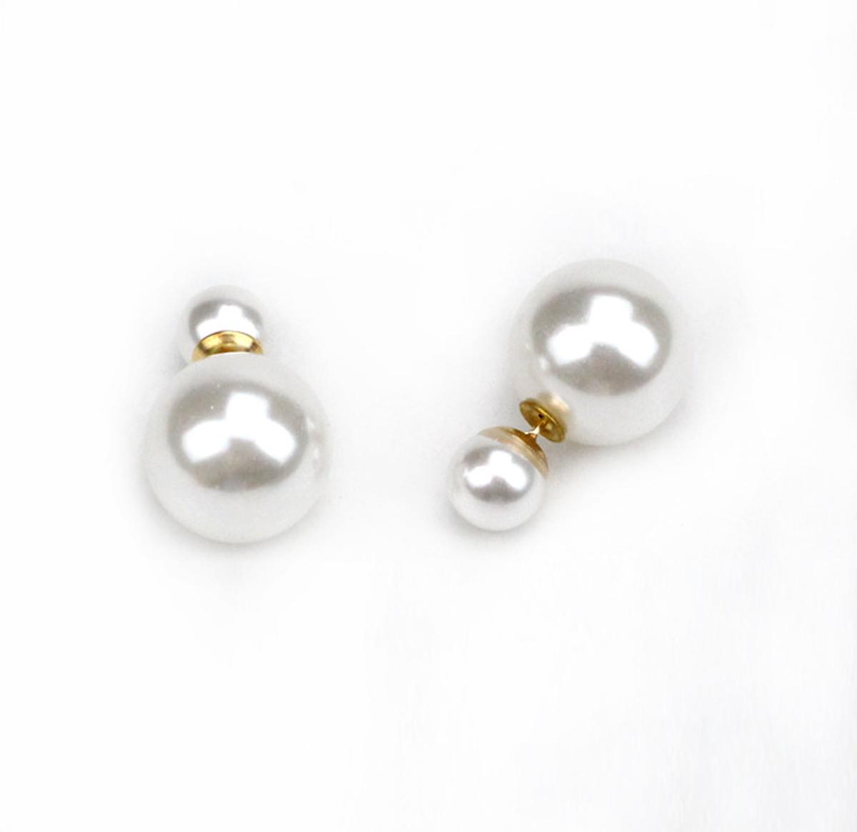 ... Náušnice s dvojitou perlou 6d3700aa7a9